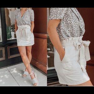 Wish List Belted Cargo Mini Skirt